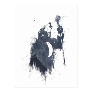 Wolflied (blau) postkarte