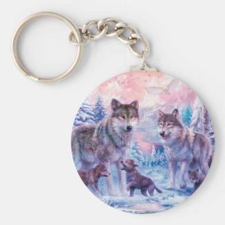 Wolfmalerei - arktischer Wolf - grauer Wolf Schlüsselanhänger