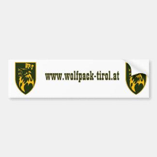 wolfpack-tirol airsoft team patch sticker autoaufkleber