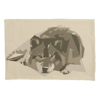 Wolfpolygon-Kunstillustration Kissenbezug