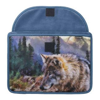 Wolfs-Natur-LandschaftMacbook Computer-Hülse Sleeve Für MacBook Pro