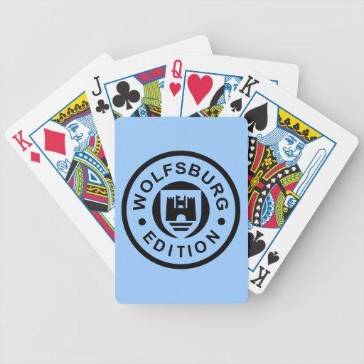 Wolfsburg-Ausgabe (Schwarzes) Poker Karten