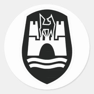 Wolfsburg-Wappen (Schwarz-weiß) Runder Sticker
