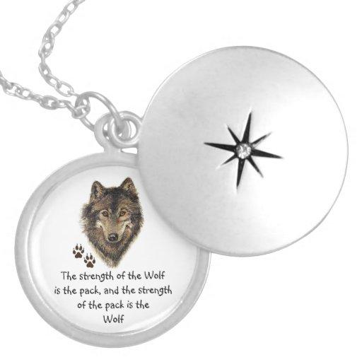 Wolfsrudel-Familien-Stärken-Zitat, Tier Anhänger