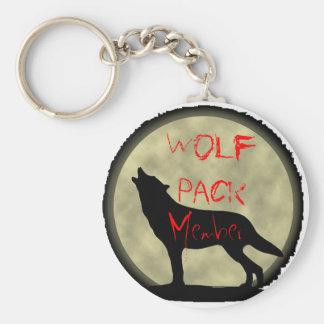 Wolfsrudel-Mitglied Standard Runder Schlüsselanhänger