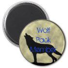 Wolfsrudel-Mitgliedsmagnet Runder Magnet 5,7 Cm