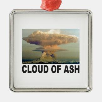 Wolke der Aschenkunst Silbernes Ornament