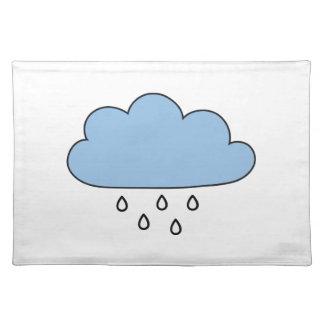 """Wolke """"so nach rechts wie Regen """" Tischset"""