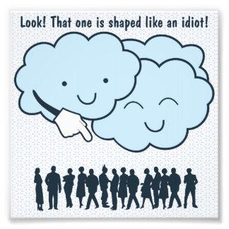 Wolke verspottet Menschen-Form-lustigen Cartoon Photo
