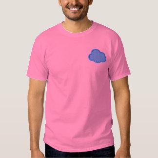 Wolkeapplique-/hintergrund Besticktes T-Shirt