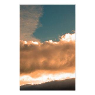 Wolken am Sonnenuntergang Briefpapier