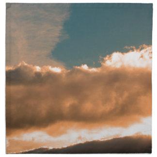 Wolken am Sonnenuntergang Serviette