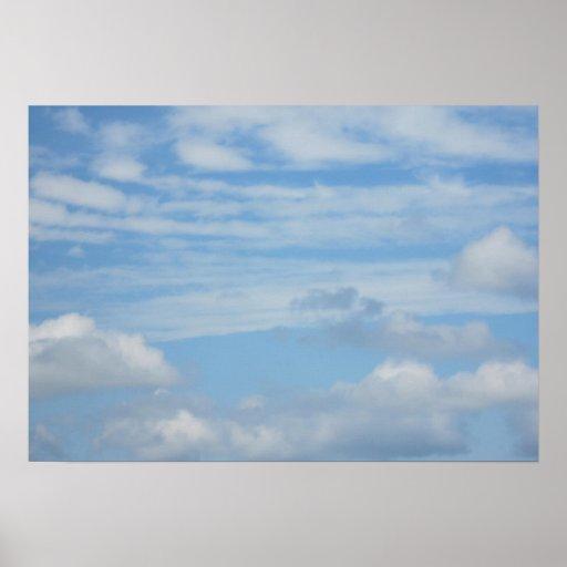 Wolken am Strand Plakat