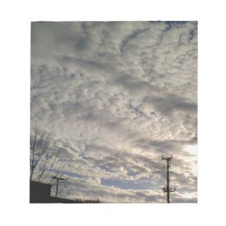 Wolken-Bildung Notizblock