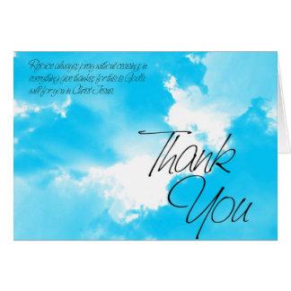 Wolken danken Ihnen Grußkarte