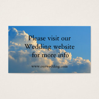 Wolken, die Hochzeitskarte Wedding sind Visitenkarte