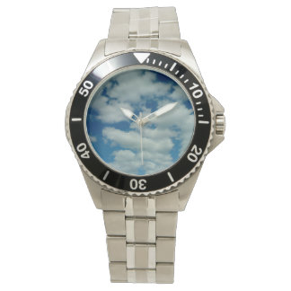 Wolken-Edelstahl-Armband-Armbanduhr Uhr