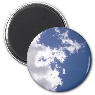Wolken-Feuer Runder Magnet 5,7 Cm
