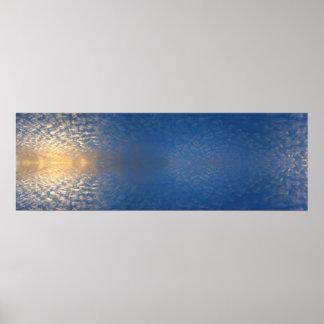 Wolken - Fraktale - Meditation - Salar de Uyuni Poster