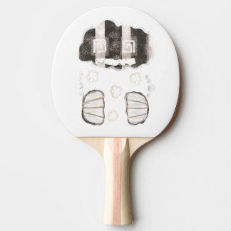 Wolken-Gefängnis ohne Hintergrund-Klingeln Pong Tischtennis Schläger
