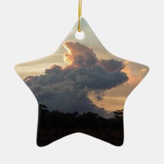 Wolken-Haifisch Keramik Ornament