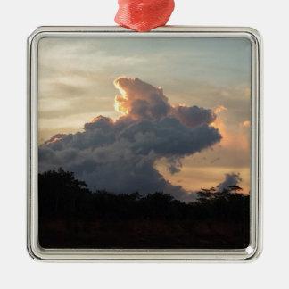 Wolken-Haifisch Silbernes Ornament