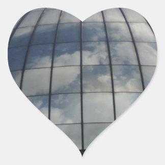 Wolken-Herz-Aufkleber Herz-Aufkleber