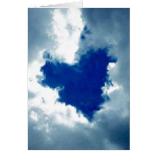 Wolken-Herz Mitteilungskarte