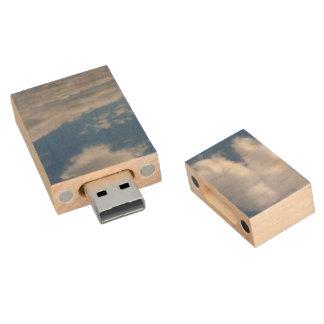Wolken im Himmel, usb-Blitz-Antrieb Holz USB Stick 2.0