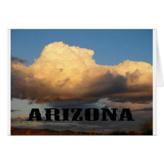 Wolken in Arizona mit Saguaro-Kaktus Karte