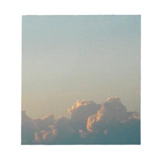 Wolken in Rumänien Notizblock