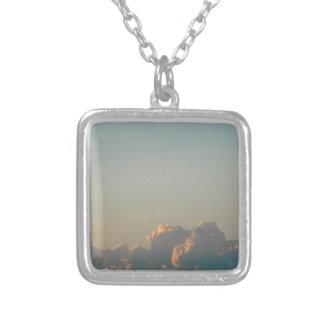 Wolken in Rumänien Versilberte Kette