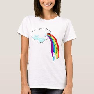 Wolken-kotzende Regenbogen T-Shirt