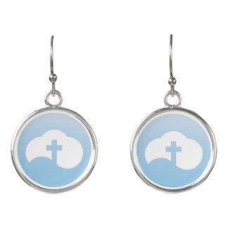 Wolken-Kreuz (grau) Ohrringe