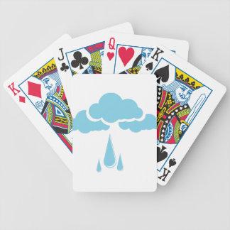 Wolken mit Nieselregen Bicycle Spielkarten