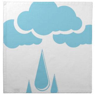 Wolken mit Nieselregen Stoffserviette