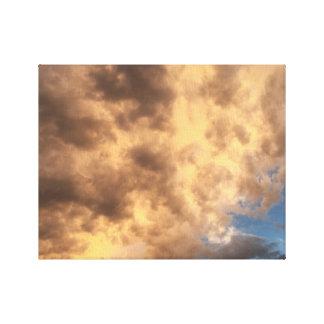 Wolken nach einem Sturm Leinwanddruck