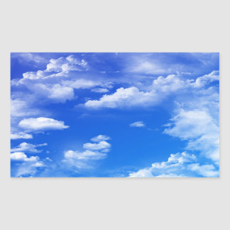 Wolken Rechteckiger Aufkleber