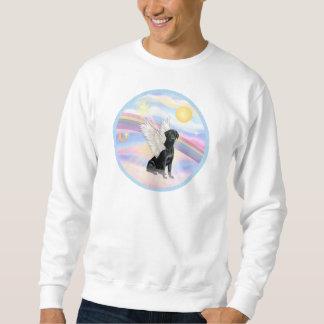 Wolken - schwarzer Labrador retriever-Engel Sweatshirt