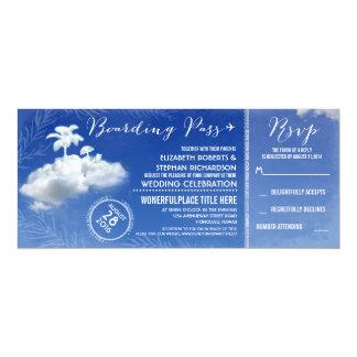 Wolken-Strand-Boarding-Durchlauf-Hochzeits-Karten 10,2 X 23,5 Cm Einladungskarte