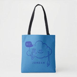 Wolken-Typ-Lächeln der Schleppangel-| Tasche