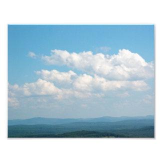 Wolken über Bergen Fotodruck