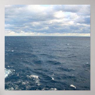 Wolken über Bermuda-Druck Poster