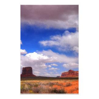 Wolken über der Wüste Briefpapier