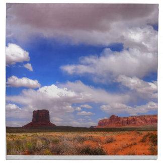 Wolken über der Wüste Stoffserviette