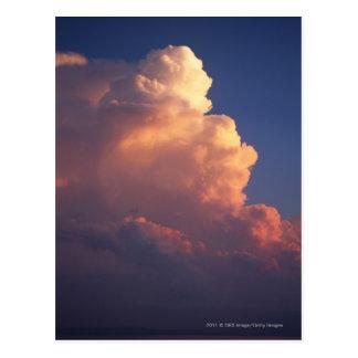 Wolken über Meer am Sonnenuntergang Postkarte