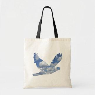 Wolken-Vogel-Muster-Tasche Budget Stoffbeutel