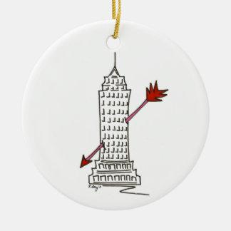 Wolkenkratzer-Amor-Verzierung New- Keramik Ornament