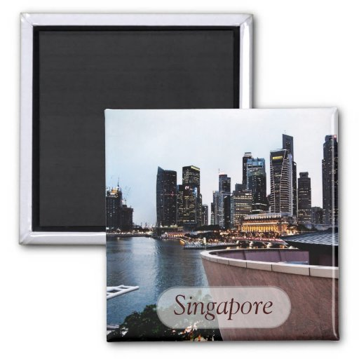 Wolkenkratzer-Ansichten: Singapur-Magnet Magnets