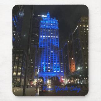 Wolkenkratzer-Architektur-Nacht New York City NYC Mousepad